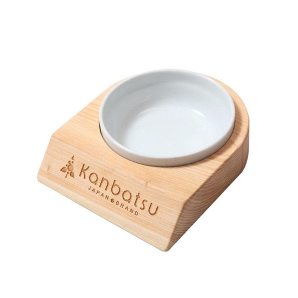【送料無料・代引不可】Kanbatsu LAVISH(ラビッシュ) ペット用食器 シングルディッシュ 日本製 KBBS01 日本の森を育てる「間伐材」を使用したペット用食器。