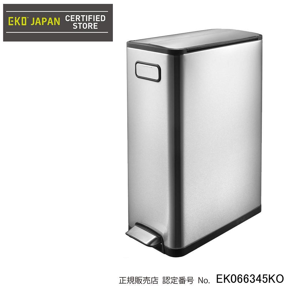 【EKO(イーケーオー) ステンレス製ゴミ箱(ダストボックス) エコフライ ステップビン 45L シルバー EK9377MT-45L】ステンレスの美しい輝きが魅力のスタイリッシュなゴミ箱♪