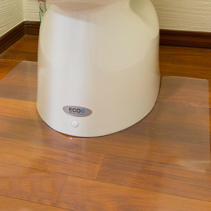 Achilles アキレス トイレ用 足元 透明マット(抗菌剤配合) ロング耳長判 80×125cm 33 トイレの床のキズ、汚れ防止に
