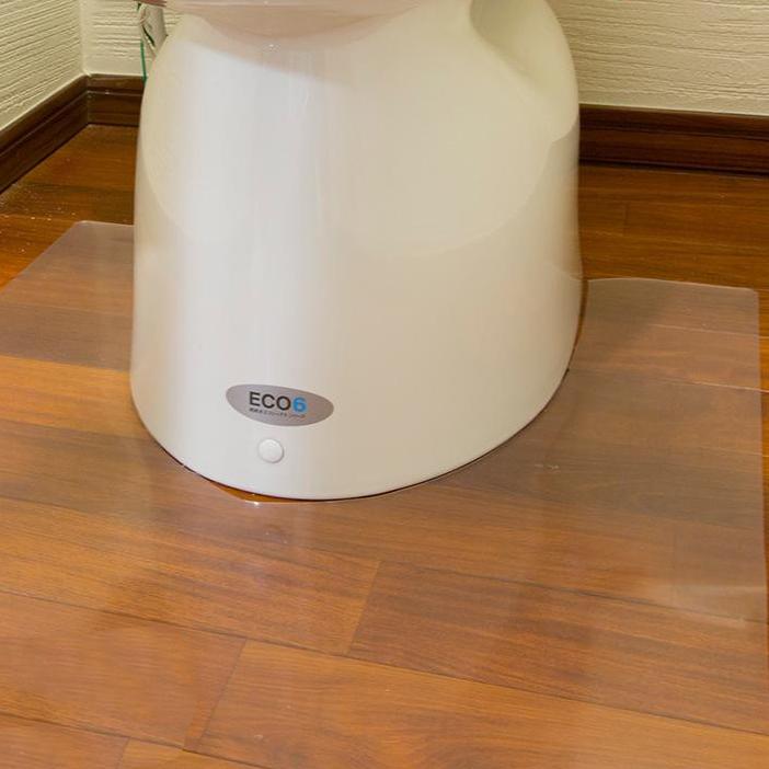 Achilles アキレス トイレ用 足元 透明マット(抗菌剤配合) ロング耳長判 90×125cm 35 トイレの床のキズ、汚れ防止に