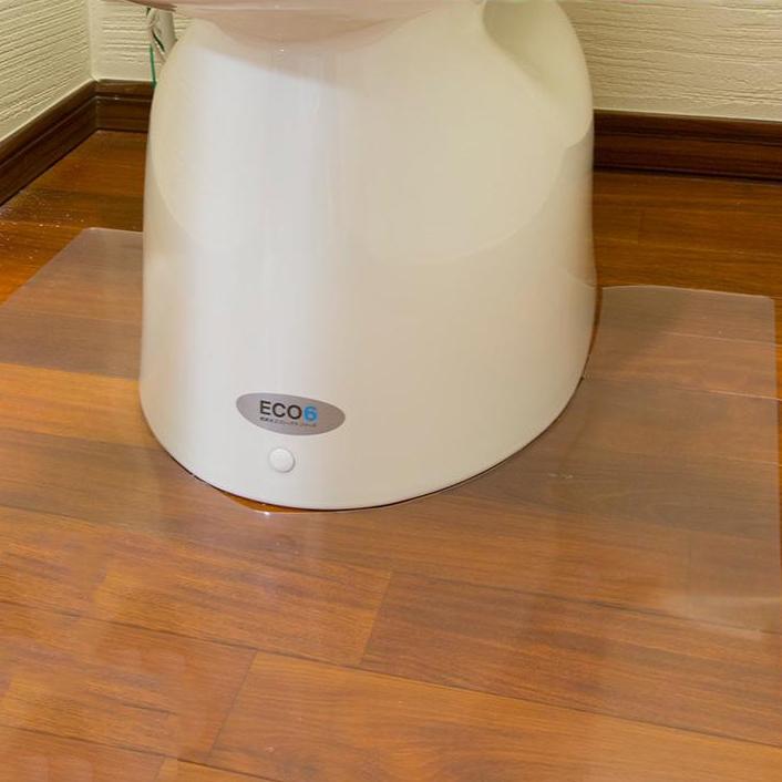 Achilles アキレス トイレ用 足元 透明マット(抗菌剤配合) ロング耳・足長判 90×140cm 36 トイレの床のキズ、汚れ防止に