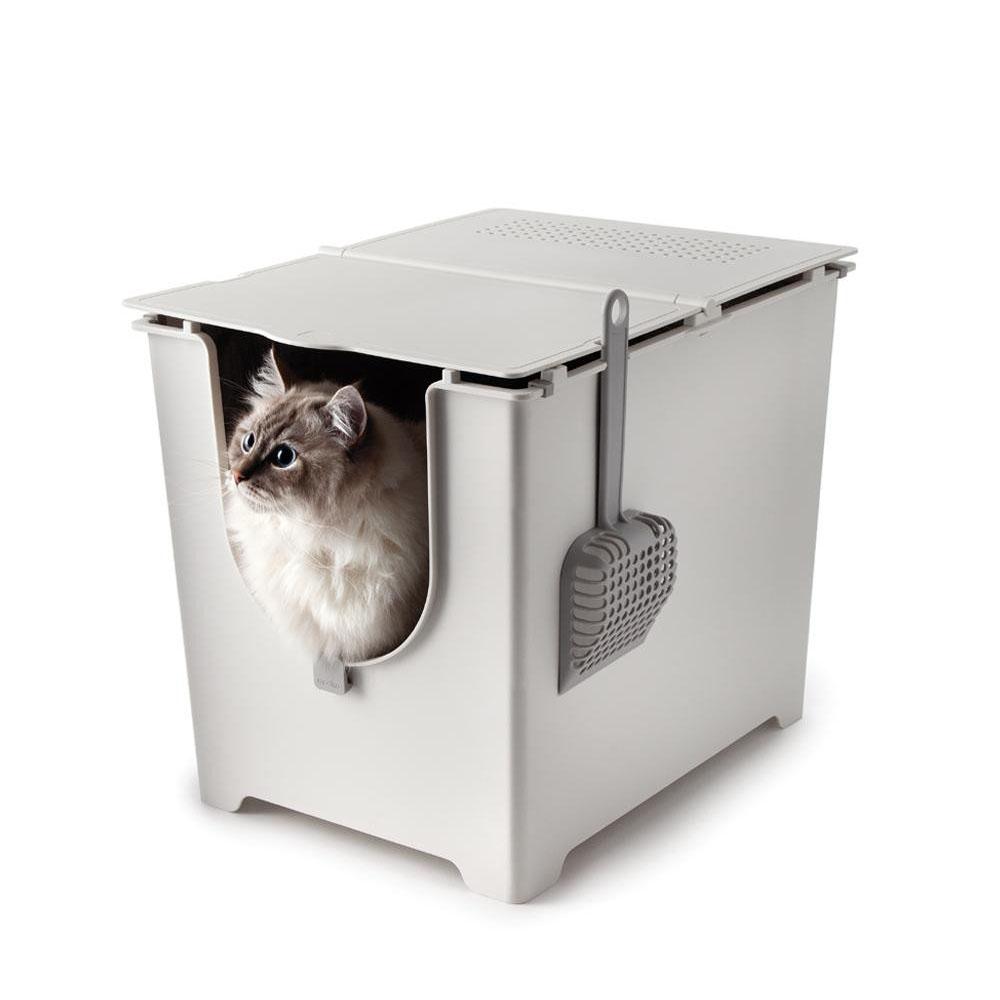 modko モデコ フリップリターボックス 前から出入りするタイプのスタイリッシュなねこ用トイレ♪ ペット ネコ用品 送料無料