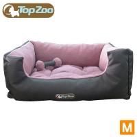 【フランス TopZoo/トップズー ペットベッド ドゥドゥコージ キャンバスピンク M(W60×D45×H25cm)】リバーシブルタイプのクッション♪