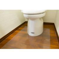 【送料無料】Achillesアキレストイレ用透明マット 1mm・80×125cm トイレの床のキズ、汚れ防止に!