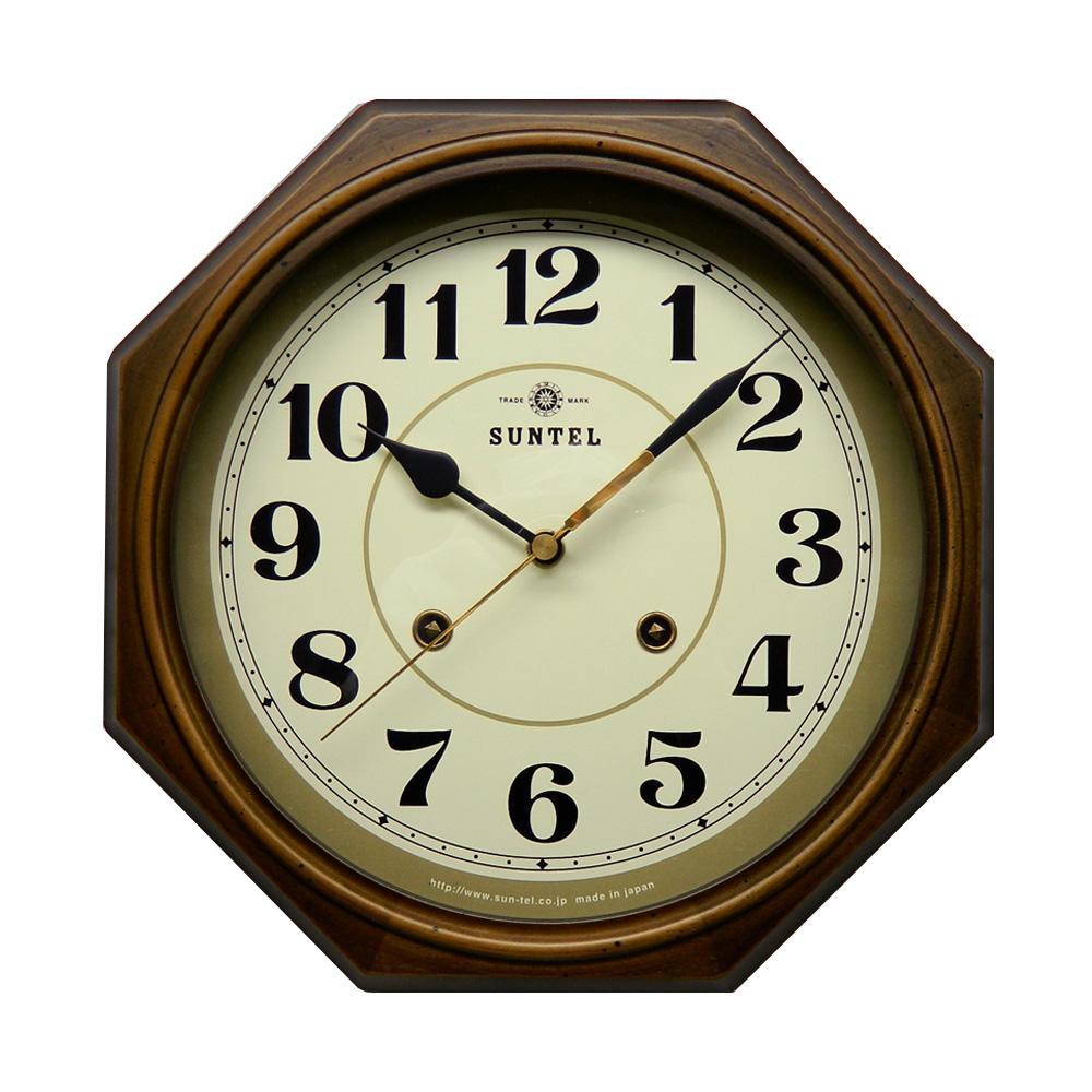さんてる 日本製 EUスタイルクラシカル 電波掛け時計 アンティークブラウン DQL675-A (アラビア文字) 昔のユーロスタイルをイメージした掛け時計。