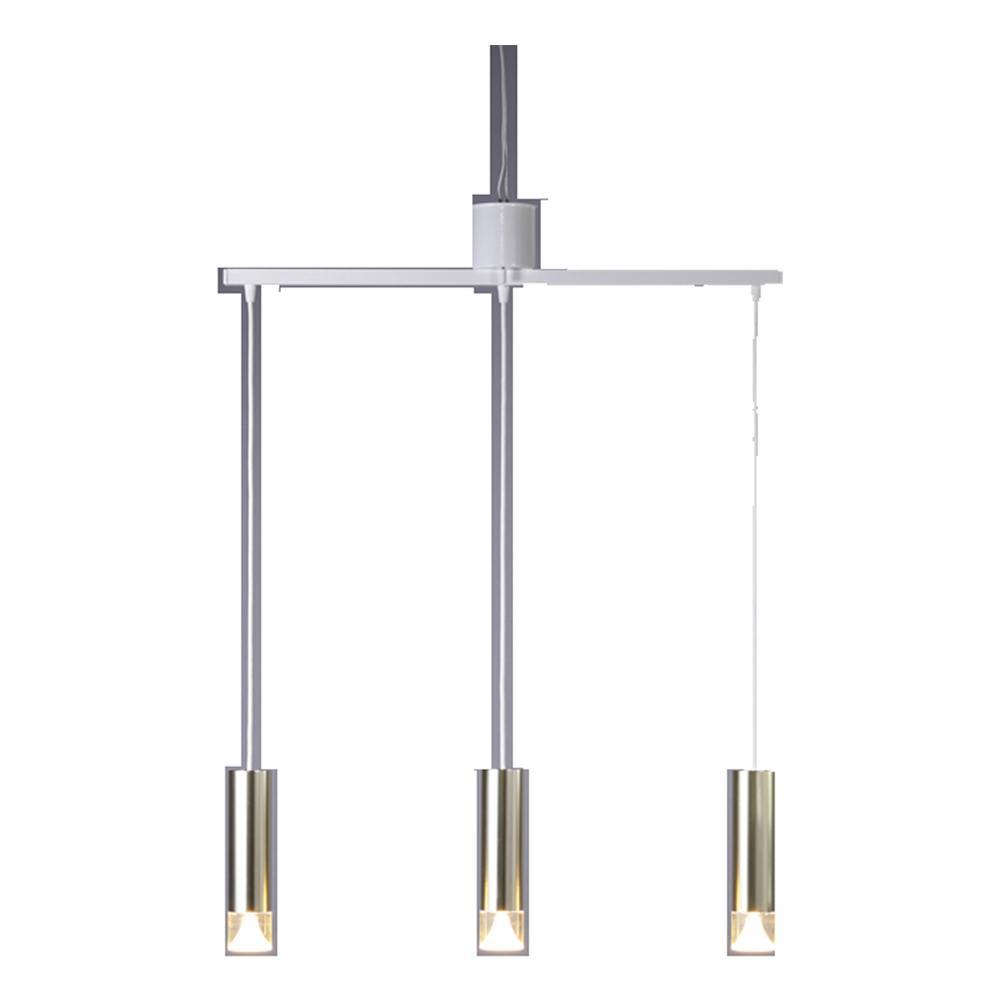 MotoM モトム LED3灯円筒ペンダント ライト ゴールド MPN06GO-3 シンプルでどんな部屋にも合わせやすい。
