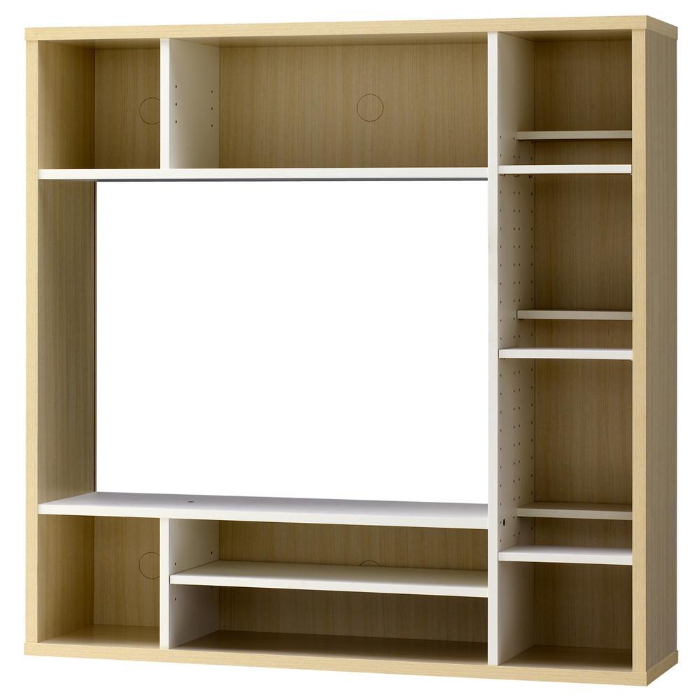 オールインワン WH AOR-1212AV-WH お部屋に合わせて棚の位置が左右選択可能!