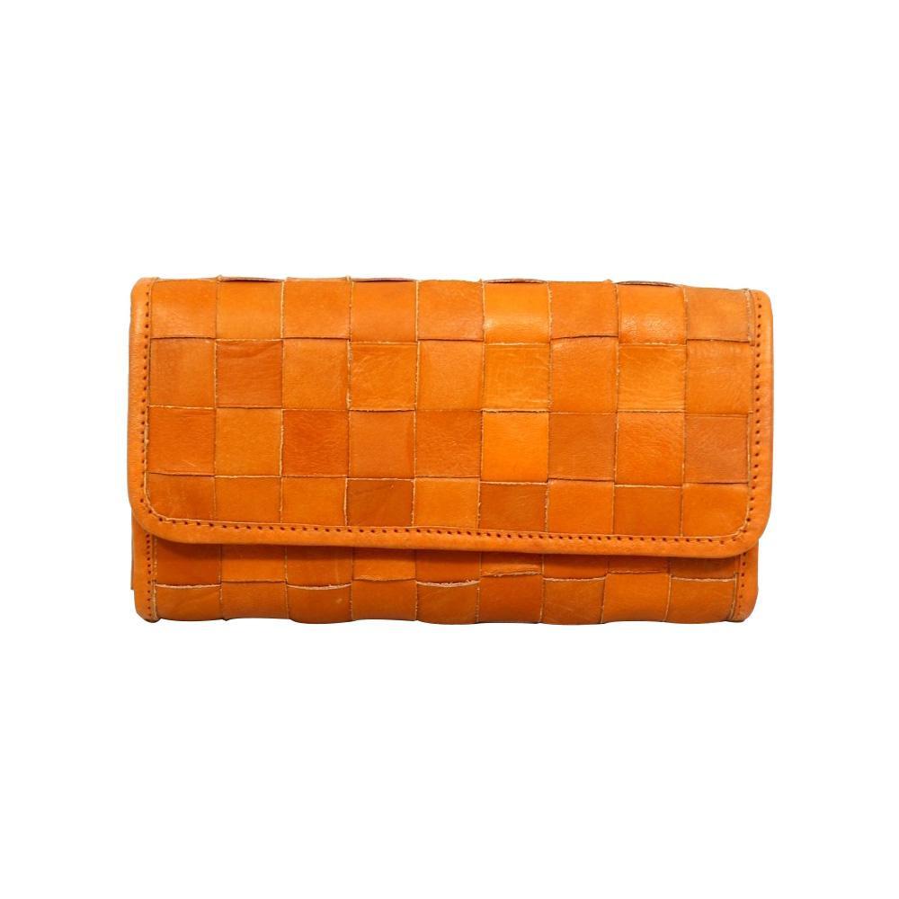 zucchero filato ヌメ革メッシュフラップ財布 メッシュシリーズ BR ブラウン 40 47734 ナチュラルな風合いの本革製財布。