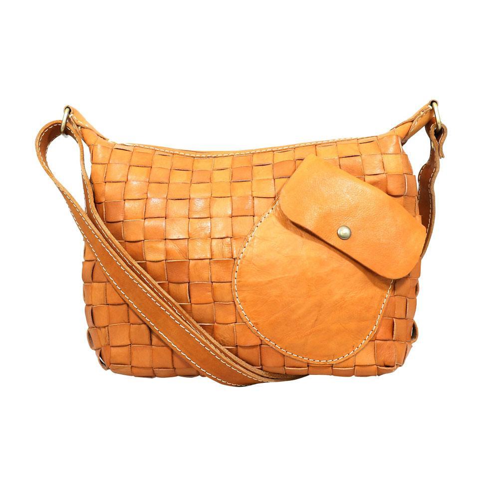 zucchero filato ショルダーバッグ BR ブラウン 40 48069 ナチュラルな風合いの本革製バッグ。