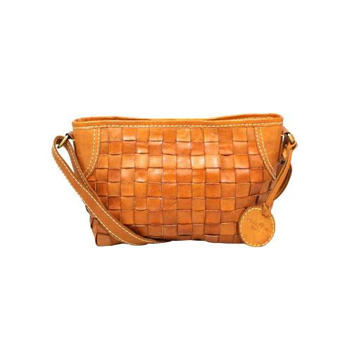 zucchero filato ショルダーバッグ BR ブラウン 40 48300 ナチュラルな風合いの本革製バッグ。