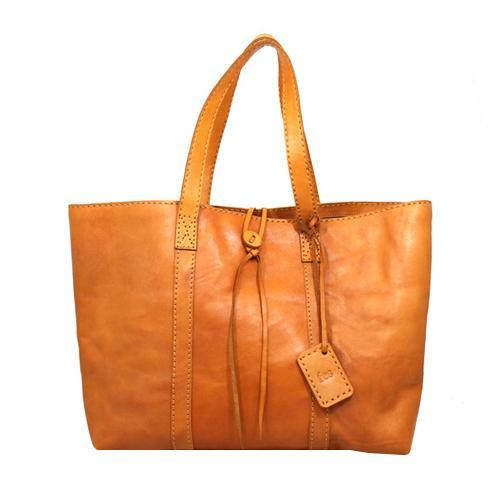 fes トートバッグ BR ブラウン 40 47063 ナチュラルな風合いの本革製バッグ。