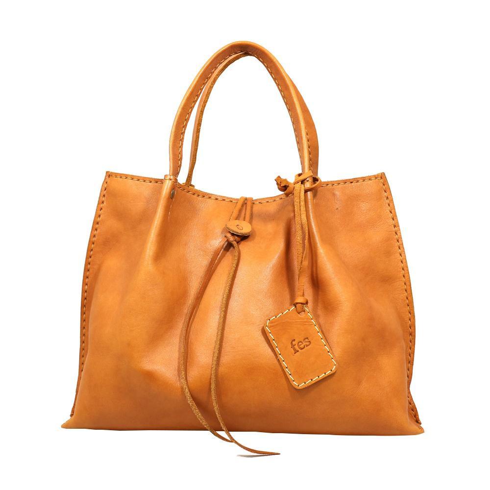 fes ハンドバッグ BR ブラウン 40 47065 ナチュラルな風合いの本革製バッグ。