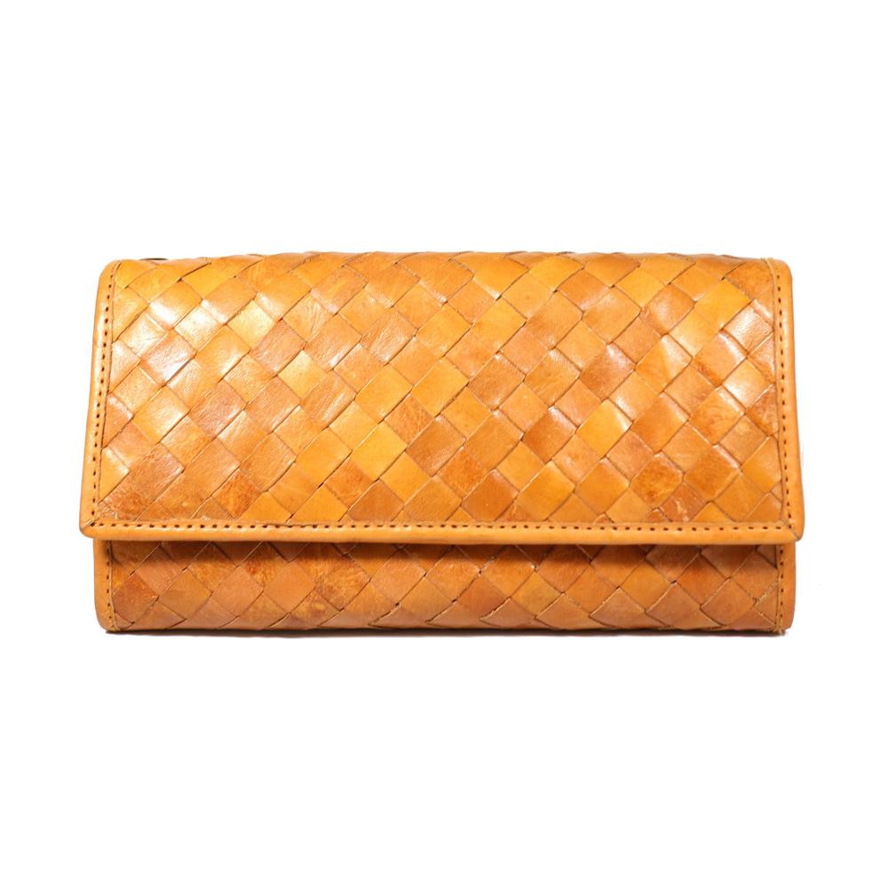 fes 長財布 BR ブラウン 40 47336 ナチュラルな風合いの革製財布。