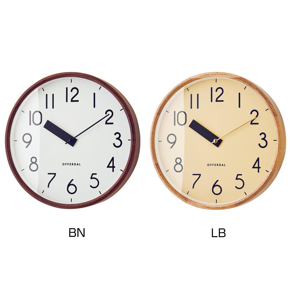 掛時計 Jules ジュール BN・CL-3855 シンプルな掛け時計。