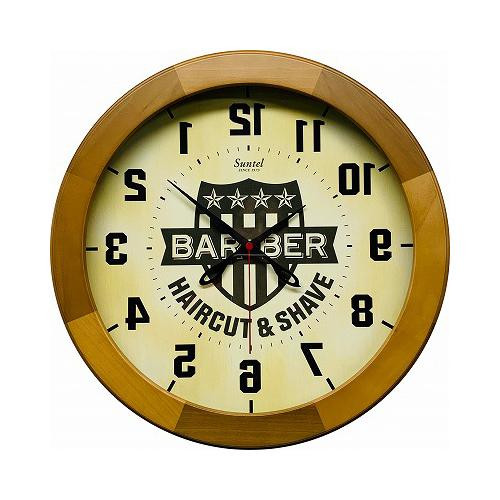さんてる 日本製 逆転時計 逆転(BARBER) アメカジ 9800 ライトブラウン SQ09-LBR 鏡を通すと正常に見える!ユニークな時計です。
