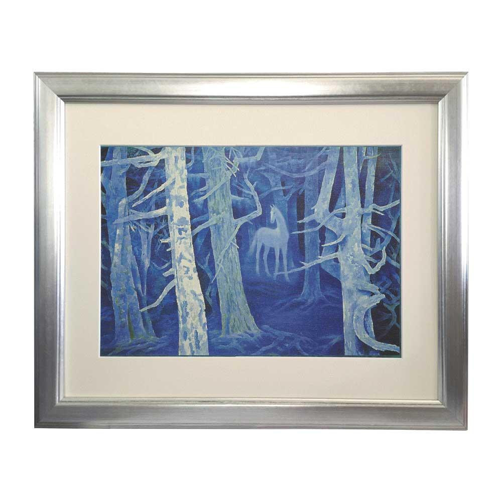 プリハード 東山魁夷 白馬の森 6号特寸 特別額 1017 東山魁夷の複製画です。