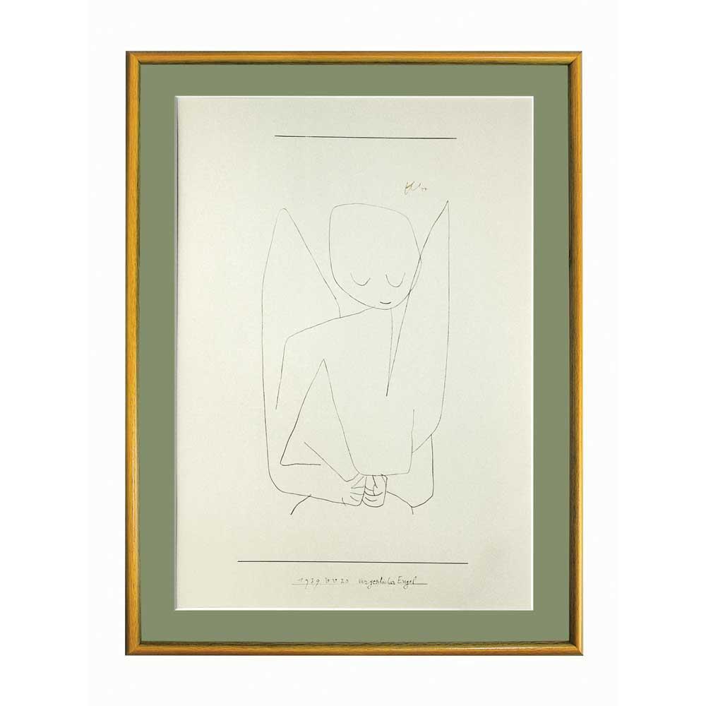 プリハード パウル・クレー 忘れっぽい天使 特別額 5406 パウル・クレーの複製画です。