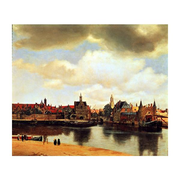 プリハード ヨハネス・フェルメール デルフトの眺望 F8号 額縁C 4264 ヨハネス・フェルメールの複製画です。