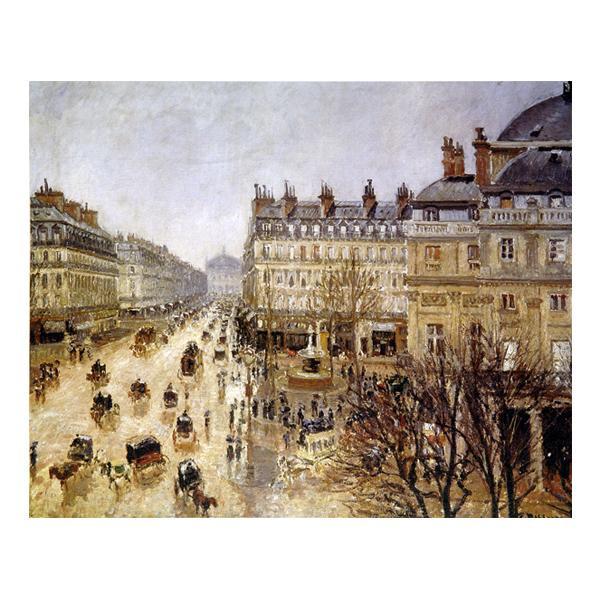 プリハード カミーユ・ピサロ テアトル・フランセ広場、雨の効果 F6号 額縁C 3548 カミーユ・ピサロの複製画です。