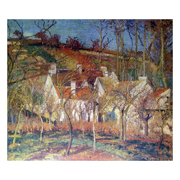 プリハード カミーユ・ピサロ 赤い屋根 F8号 額縁A 4595 カミーユ・ピサロの複製画です。