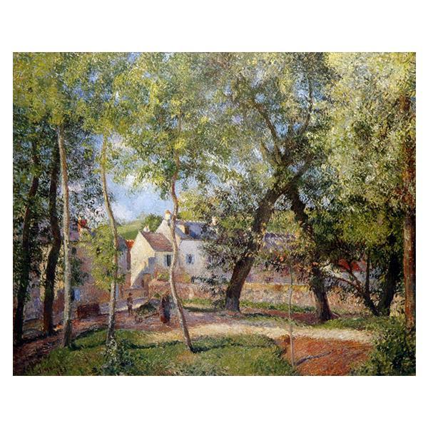 プリハード カミーユ・ピサロ オスニーの水呑み場近くの風景 F6号 額縁B 3547 カミーユ・ピサロの複製画です。
