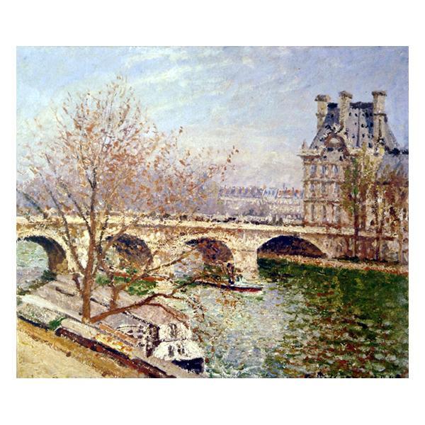プリハード カミーユ・ピサロ ポン・ロワイヤルとルーヴル宮 F8号 額縁A 4336 カミーユ・ピサロの複製画です。