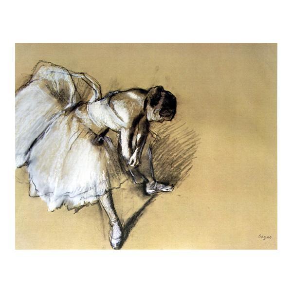 プリハード エドガー・ドガ 靴下を直す踊り子 F8号 額縁C 4290 エドガー・ドガの複製画です。