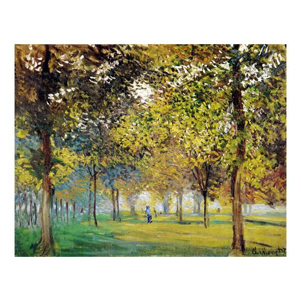 プリハード クロード・モネ アルジャントゥーユの広場の並木道 F6号 額縁G 3094 クロード・モネの複製画です。