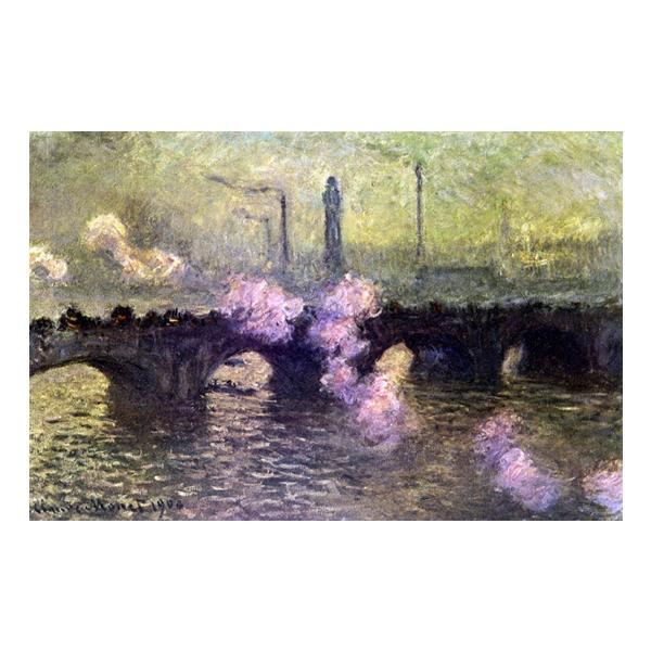 プリハード クロード・モネ ウォータールー橋(煙る曇り日) M8号 額縁A 4720 クロード・モネの複製画です。