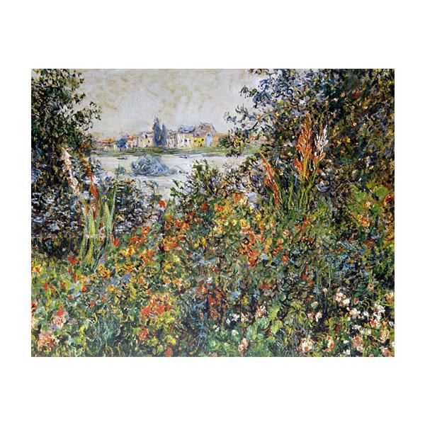 プリハード クロード・モネ ヴェトゥーユの郊外・花 F6号 額縁A 3093 クロード・モネの複製画です。