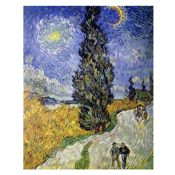 プリハード ヴィンセント・ヴァン・ゴッホ 糸杉と星の道 P10号 額縁B 5756 ヴィンセント・ヴァン・ゴッホの複製画です。