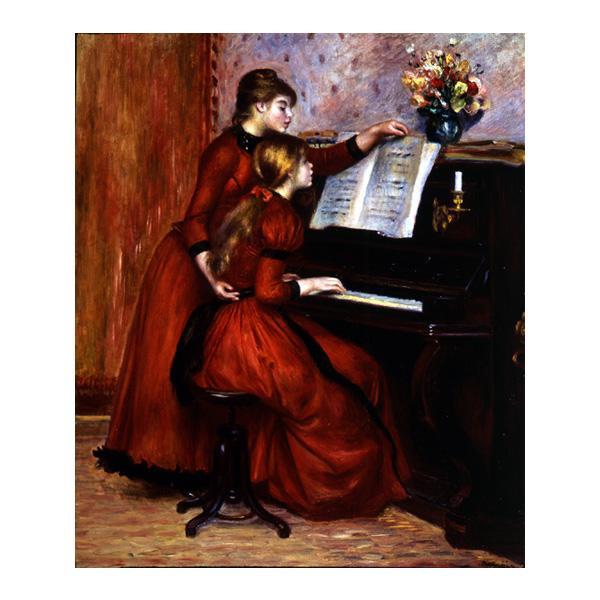 プリハード ピエール・オーギュスト・ルノワール ピアノのレッスン F8号 額縁B 4240 ピエール・オーギュスト・ルノワールの複製画です。