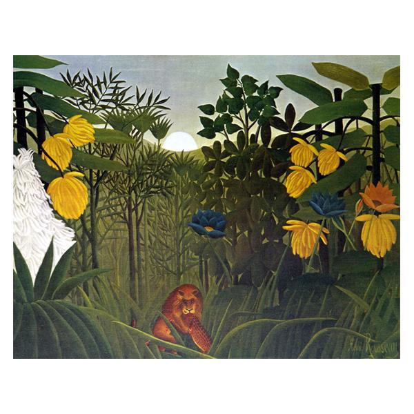 プリハード アンリ・ルソー ライオンの食事 F6号 額縁C 3065 アンリ・ルソーの複製画です。