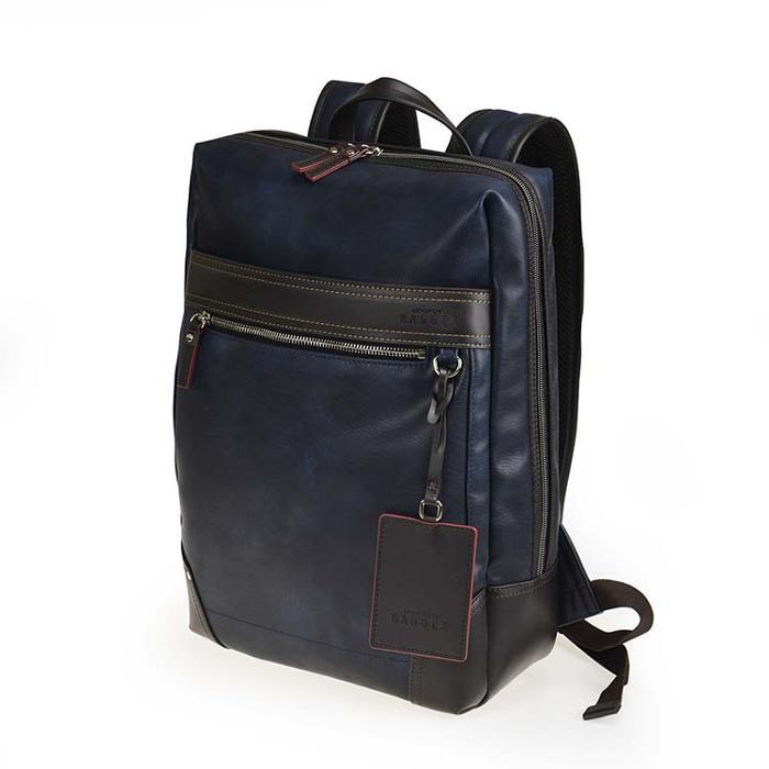 BAGGEX ギャラン デイパック 13-6105 ネイビーブルー メインルーム内のポケットも充実。
