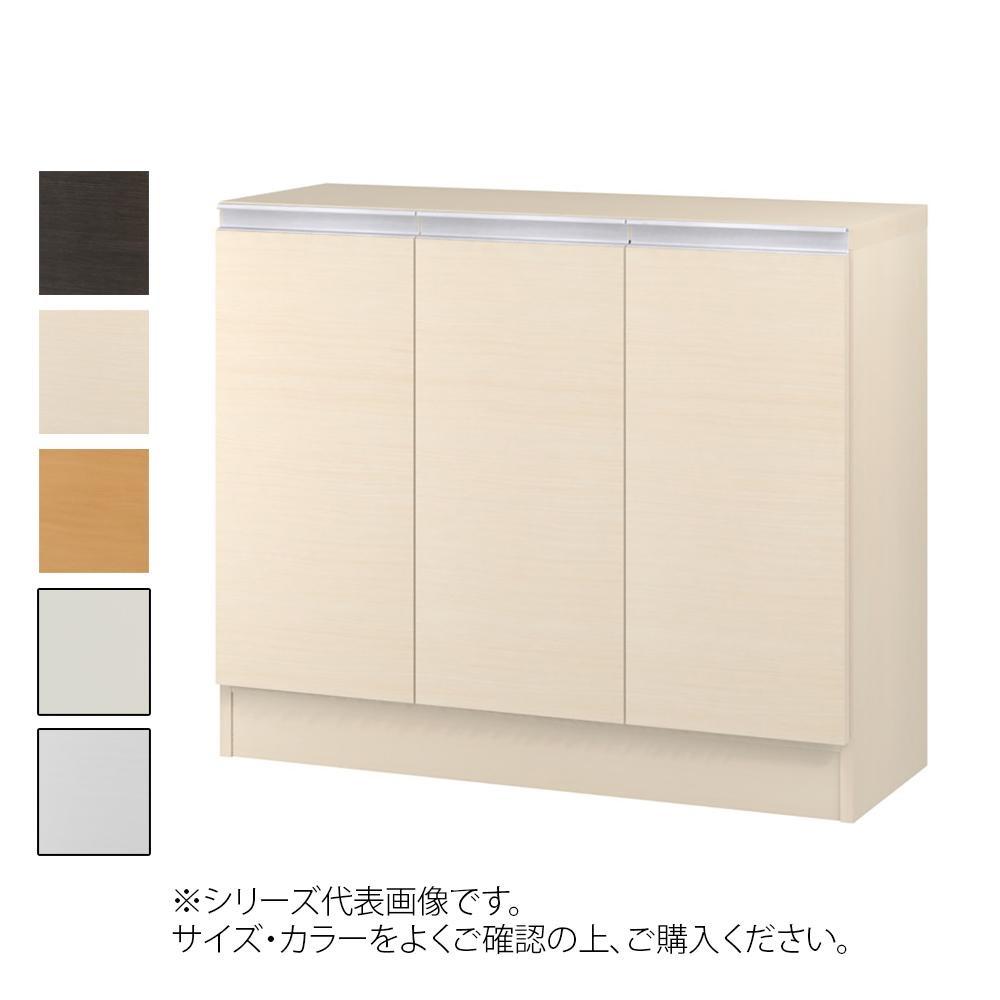 TAIYO MIOミオ(ミドルオーダー収納)7570 R ダークブラウン(DB) つかみやすいハンドルの扉付き収納棚。