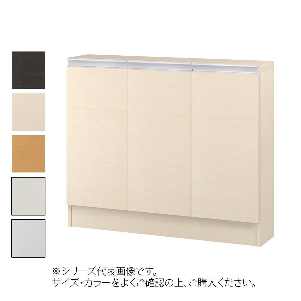 TAIYO MIOミオ(ミドルオーダー収納)7580 S ダークブラウン(DB) つかみやすいハンドルの扉付き収納棚。