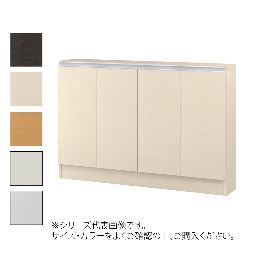 TAIYO MIOミオ(ミドルオーダー収納)80115 S ダークブラウン(DB) つかみやすいハンドルの扉付き収納棚。