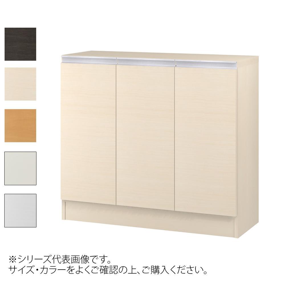 TAIYO MIOミオ(ミドルオーダー収納)8075 R ダークブラウン(DB) つかみやすいハンドルの扉付き収納棚。