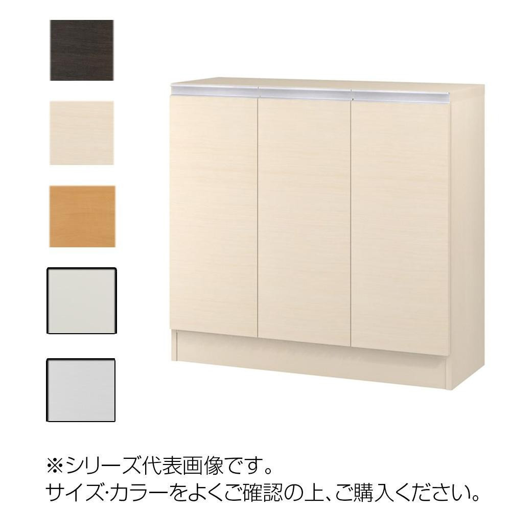 TAIYO MIOミオ(ミドルオーダー収納)8580 R ダークブラウン(DB) つかみやすいハンドルの扉付き収納棚。