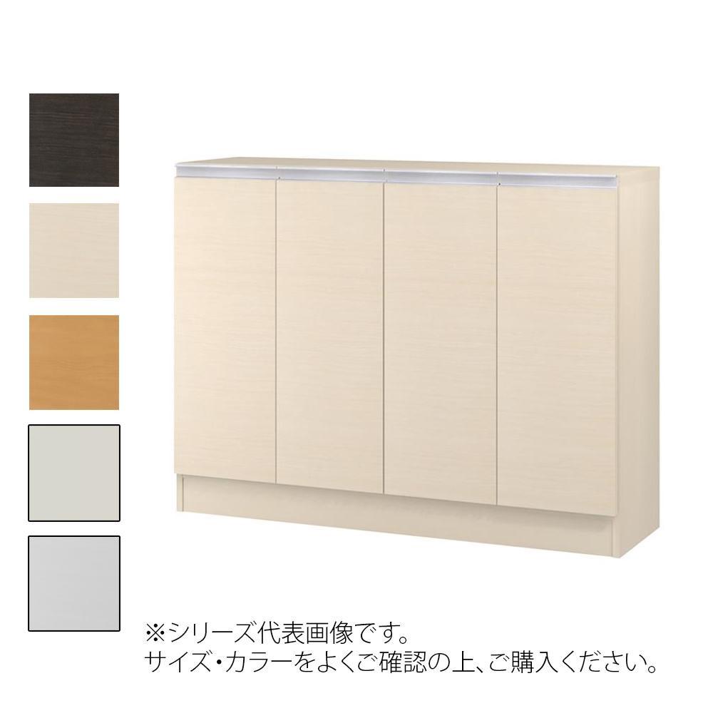 TAIYO MIOミオ(ミドルオーダー収納)90105 R ダークブラウン(DB) つかみやすいハンドルの扉付き収納棚。