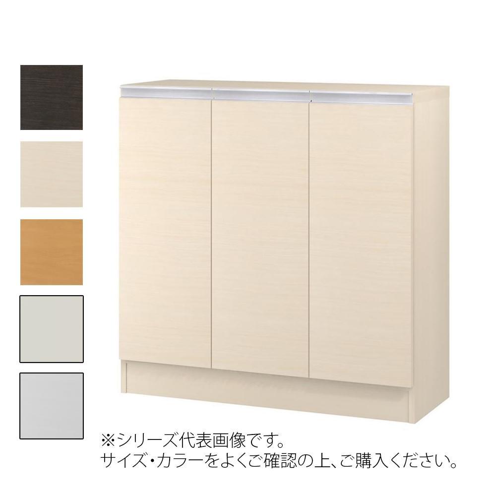 TAIYO MIOミオ(ミドルオーダー収納)9075 R ダークブラウン(DB) つかみやすいハンドルの扉付き収納棚。