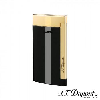 S.T. Dupont エス・テー・デュポン ライター スリム 7 ブラック&ゴールデン 027708 027708 超極薄のラグジュアリーライター