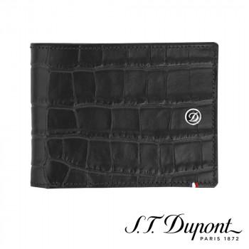 S.T. Dupont エス・テー・デュポン ラインD クロコダンディ 2つ折り財布 6CC ブラック 180060 180060 クロコパターンに飾られ、これまでにない新しいイメージ