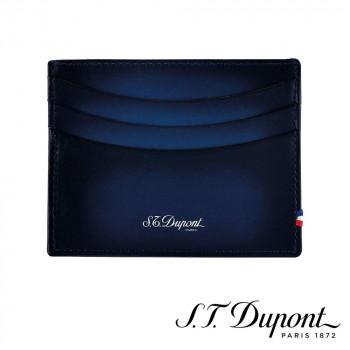S.T. Dupont エス・テー・デュポン ラインD アトリエ クレジットカードホルダー ブルー 190412 190412 職人達の技術を復刻させた「アトリエ」レザーコレクション