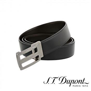S.T. Dupont エス・テー・デュポン ラインD 35mm ベルト ブラック&ルテニウム 9821140 9821140 ラグジュアリーな雰囲気をプラス