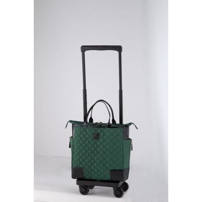 SWANY スワニー D-329 スタルト 4輪ストッパー付 M18 グリーン バッグ単体でも使えるキャリーバッグ