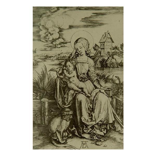 プリハード アルブレヒト・デューラー 尾長猿を伴った聖母マリア 半切 CFシルバー 1372 アルブレヒト・デューラーの複製画です。