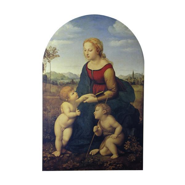 プリハード ラファエルロ・サンティ 「美しき女庭師」の聖母 M20A号 額縁A 8637 ラファエルロ・サンティの複製画です。