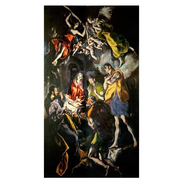 プリハード エル・グレコ 羊飼いの礼拝 M20C号 額縁G 8730 エル・グレコの複製画です。