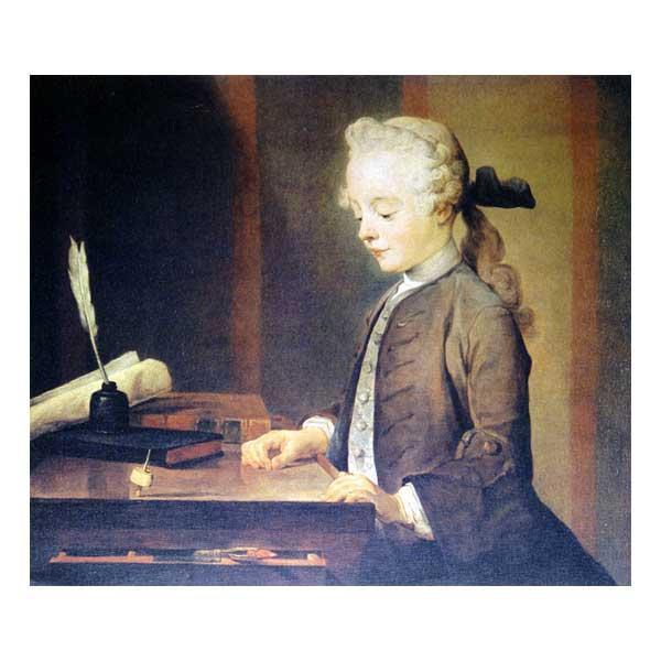 プリハード ジャン・シメオン・シャルダン ゴドフロアの肖像 F8号 額縁D 4501 ジャン・シメオン・シャルダンの複製画です。